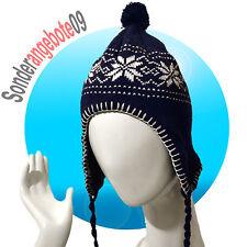 Castelli Inka Mütze Modell Norge Wintermütze warm Bommelmütze navy blau Schnee