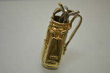 9ct Gold Golf  Clubs Charm