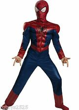 The Amazing Spiderman Muscle Costume Child's M 7 8 New Bonus Wrist Communicator