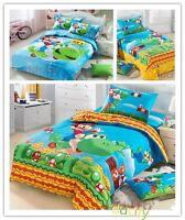 Super Mario Bedding Set Duvet Cover Flat Sheet Pillowcases Twin/Full/Queen Size
