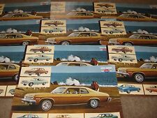 1973 Chevrolet Nova SS Dealer Sales-Showroom Brochure Poster Lot 10