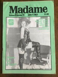 Madame Fantasy Vol 8 No 11 Swish Fem Dom TV CP Rubber Vintage Magazine Collector