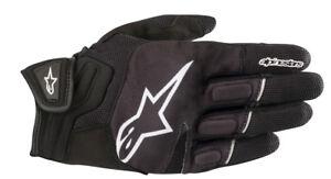 Alpinestars ATOM Leather/Textile/Mesh Riding Gloves (Black/White) Choose Size