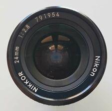Nikon NIKKOR 24mm 1:2.8 FAST ULTRA-Wide-Angle 24mm F2.8 Lens for FILM & Digital