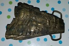 Belt Buckle 5321 marked 1322 Vintage Train Engine Locomotive Brass