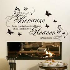 Because Someone We Love Is In Heaven Room Decor DIY Decals Vinyl Wall sticker