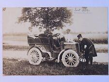 12C9 CARTE PHOTO PORTRAIT DE MILITAIRE DU 132 e RI VOITURE AUTOMOBILE TACOT 1909