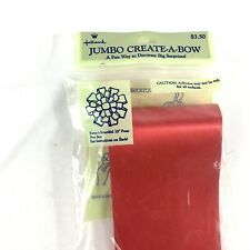 Vtg Hallmark Jumbo Create A Bow 16 Inch Red Large Gift Bow Gift Wrap Nos