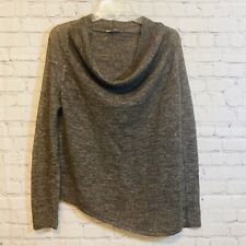 Helmut Lang Size Medium Stretched Cowl Neck Sweater W/Flaw Alpaca/linen Blend
