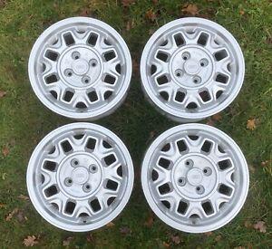"Ultra Rare Genuine Audi Coupe / 80 / 90 / 100 14"" Ronal Alloy Wheels 811601025B"