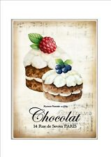 Bar Cafe Bistro Restaurant metal Wall Plaque Vintage Style Chocolate Cake Sign