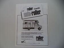 advertising Pubblicità 1982 AUTO ROLLER CARAVAN