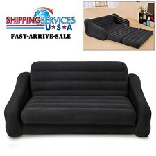 Intex Sofa Inflatable Bed Air Mattress Sleeper Sleep Seat Loveseat Airbed -Queen