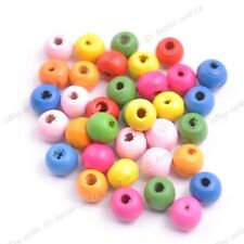 Wholesale 100Pcs Wood Mixed Round Charm Spacer Beads 8MM