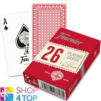 FOURNIER 26 PLASTIC COATED BRIDGE PLAYING CARDS DECK RED STANDARD NEW