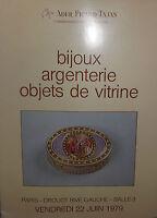1979 Catálogo De Venta Ilustrado Drouot Bisutería Cubertería De Vitrina