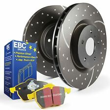 EBC Rear GD Sport Brake Discs & Yellowstuff Pads Kit For Ford Focus Mk2 RS 2.5T