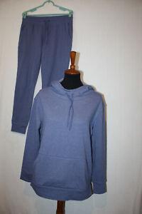Champion Elite Tracksuit Sz M Hoodie Jogger Pants Set Blue Long Sleeve Cotton