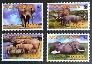 Mozambique - 2002 - WWF - African Elephant - Set & FDCs - Unmounted Mint.