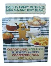 Fred & Ginger Diet Joke BLANK card by Great British card company