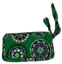 NEW Vera Bradley Wristlet Bag - Green Cupcakes (Legacy Pattern) Casual Purse