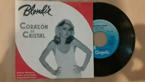 "Blondie-Heart of Glass-7""Mexico Single promo record PS Chrysalis 1979"