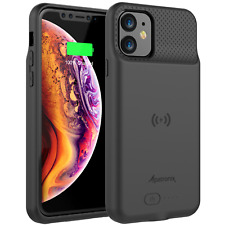 iPhone 11 Qi Wireless Charging Battery Case Slim External Backup Charger (BX11)