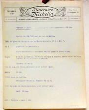 1925 ITINERAIRE MICHELIN  VERVINS LAON  CARTE BIBENDUM