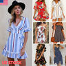 Women Summer Boho MIni Maxi Dress Evening Cocktail Party Dresses Sundress Beach
