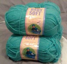 New listing Lion Brand Yarn Baby Soft # 176 Spring Green Same Dye Lot Bundle 5oz Lot of 2