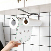 1PC Accessories Shelf Under Cabinet Paper Roll Rack Towel Holder Tissue Hanger