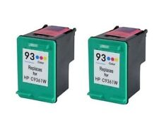 2x Color Ink For HP 93 C9361WN PhotoSmart C3135 C3140 C3150 C3180, C4140 PSC1510