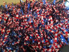 PATRIOTIC AMERICAN FLAG GARLAND 9 FT RED WHITE & BLUE STARS & STRIPES NWT