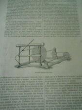 Machine électrique de M. Bertsch  Gravure Old Print 1867