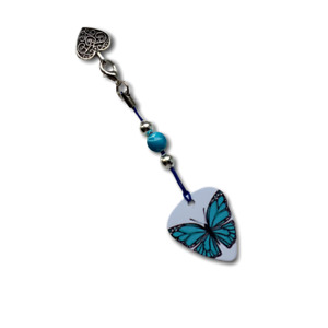 Winter 2020 Blue Butterfly Barrel Clasp Opener Tool Nail Saver Bracelets Charms