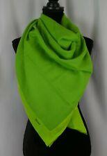 Brioni Women's Scarf Shawl Wrap Green Italy Wool Silk Trim 56 x 55 Large Casual