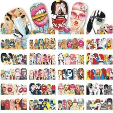 Nail Art Stickers Water Decals Transfer Stylish Sexy Cute Pop Art