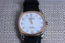 "18K Rose Gold ""Cellini Danaos"" Men's Rolex Watch with Black Leather Band- 12773"