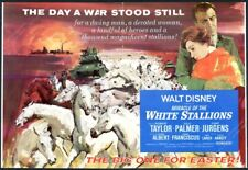 1963 Miracle of the White Stallions Walt Disney movie horse art trade print ad