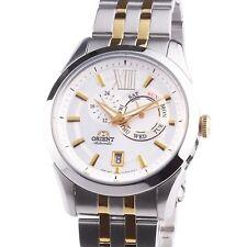 Reloj hombre automático Orient FET0X002W Men Watches : White Dial 2 Tone Gold St
