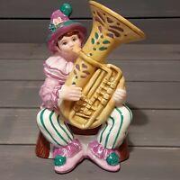 Schmid Yamada Originals Music Collectibles 1994 Clown Playing Tuba Music Box