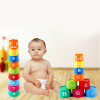 9Pcs Stacking CupsNesting Cups Baby Building Set  Bathtub Toys for Kids Babys