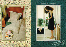 PUBLICITE ADVERTISING 055  1979  DESCAMPS LAINE  2 draps linge de maison ( 2 pag