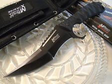 Mtech Xtreme Upswept Combat Dagger Hunter Knife Black 440C Full Tang G10 MX-8134