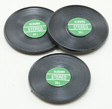 Dollhouse Miniatures 1:12 Scale Records, Green Label, 3pk #Im65802