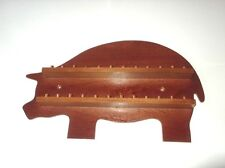 24pc Pig Wooden Thimble Display Rack ( Mahogany )( huge range - see list )