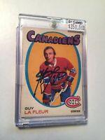 1971 Guy LaFleur Signed O-Pee-Chee Rookie hockey Card with COA