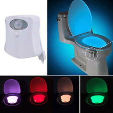 8 Color Body Sensor Motion Activated Bathroom Toilet lights Seat Bowl Battery
