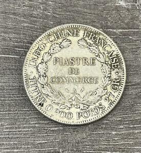 PIASTRE DE COMMERCE  0.900 POIDS 27GR 1908 COIN