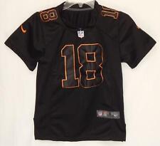 NIKE Denver Broncos Peyton Manning #18 Black On Field Jersey Boys Size Small (8)